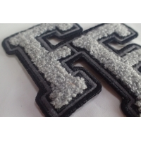 100% Towel Sew Chenille Custom Embroidered Patches Manufactures