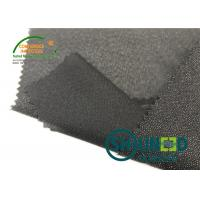 Lightweight Twill Woven Lining Water Jet Polyester Interfacing Black Color Manufactures