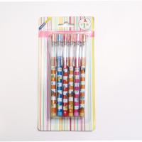 Plastic Non-sharpening Pencil  with 9 colors with blister card packing for kids