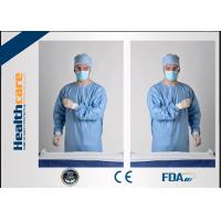 Blue Disposable Surgical GownsSterile Reinforced Knitted Wrists Gowns ISO CE FDA Approved