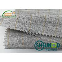 Heavyweight Garment Stretched Cotton Canvas Fabric / Horsehair Interlining For Suit Manufactures