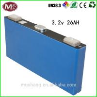 3.2V 26ah LiFePO4 Battery Cell For Electric Car Power Battery Cell Manufactures