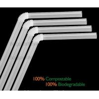 Disposable Paper Straws Pure white Drinking Straws party straw, PLA plastic drinking straw Manufactures