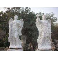 Garden Deco Life size Four angel marble statues,china marble sculpture supplier Manufactures