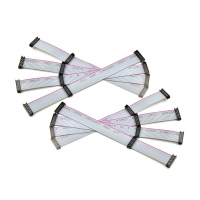 Red Edge Gray 1.27*2.54 12 Pin Ribbon Cable Manufactures