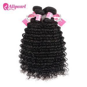 3 Pcs Brazilian Human Hair Bundles Deep Wave , Brazilian Remy Hair Extensions Manufactures