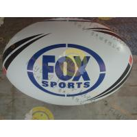 Attractive 1.5m Inflatable Rugby Ball Helium PVC Wind - Resistant Manufactures