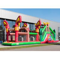 Reliably Blow Up Obstacle Course 17.0 X 3.6 X 4.7 M Fourfold Stitching Manufactures