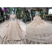 Tulle Wedding Bridal Ball Gowns Long Sleeves V Neckline Lace Applications Manufactures