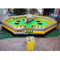 Meltdown Mechanical 8m Dia Total Wipeout Inflatable For Rotating Obstacles Games Manufactures