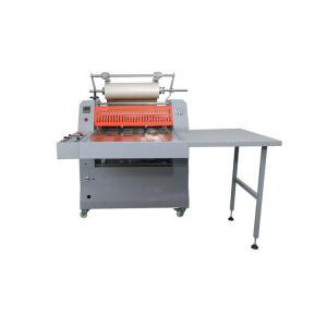 Steel Roller Dia200mm Book Lamination Machine , 160C Paper Roll Lamination Machine Manufactures
