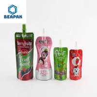 Quality Soy Milk Drink Packaging Reusable Custom Spout Pouches for sale