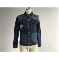 Button Through Stretch Denim Jacket Mens Trucker Jacket Size Customized TW76376 Manufactures
