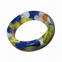 Bracelet, OEM Orders and Designs are Welcome, Made of Plastic, PU, and Lace, Comes in Various Colors Manufactures