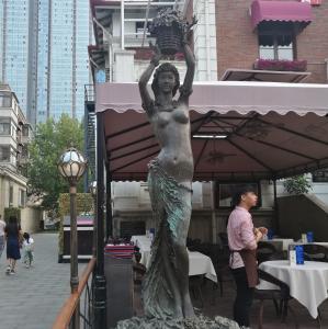 Outdoor garden beautiful grace girl bronze sculpture ,customized bronze statues, China sculpture supplier Manufactures