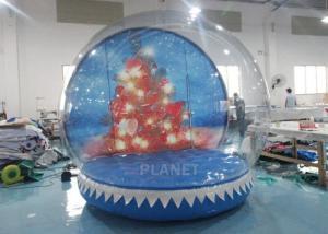 0.65mm PVC  Inflatable Santa Snow Globe Ball Quadruple Stitching Manufactures