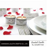 Silver And Golden Color Beautiful Scented Candles , Soy Wax Small Tin Candles Manufactures