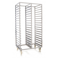 Sliver 900x620x1780mm Double Row Stainless Steel Trolly Manufactures