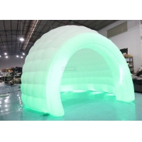 Colorful LED Light Giant Inflatable Igloo Dome Tent With Tunnel Entrance Manufactures