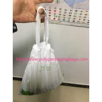 HDPE / LDPE Clear Drawstring Plastic Bags For Supermarket / Hospital Manufactures