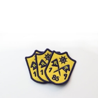Heat Transfer 1.1mm Thickness Custom Embroidered Patches Manufactures