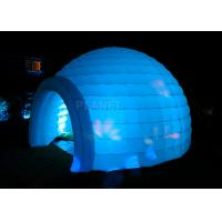 Led Lighting Inflatable Igloo Tent , Oxford Cloth Inflatable Tents For Parties Manufactures