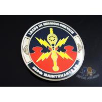 2D Army Challenge Coins Souvenir Gift , Round Military Commemorative Coins Manufactures