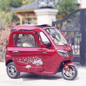 Handle Steering 60V 58Ah 3 Wheel Electric Car Manufactures