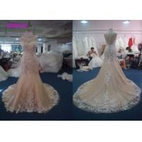 Lovely Lace Multi Colored Wedding Gowns Column Embroidered Celebrity Mermaid Manufactures