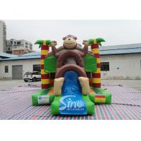Outdoor kids commercial jungle monkey inflatable combo in monkey theme park for jumping from Sino factory Manufactures