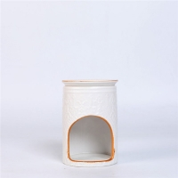 Easy Cleaning Ceramic Scented Oil Burner , Aromatherapy Oil Burners Manufactures