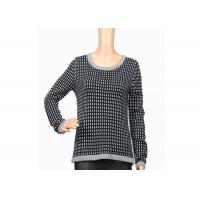 Autumn Winter Warm Thick Womens Knit Sweater Black And White Female Acrylic Manufactures