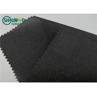 Eco Friendly Drill Fusing Woven Interlining Broken Twill Weave For Garment Manufactures