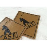 Best price customized pu label embossed/metal leather label patch for clothes garment Manufactures