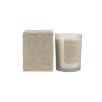 250g Flocking Box Scented Jar Candle , Christmas Fragrance Candles Manufactures
