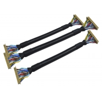 ISO Low Frequency 260mm 18 PIN 1.25mm LVDS Cable Manufactures