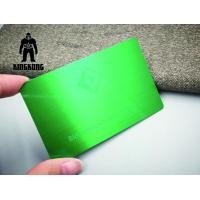 Colorful Anodized Sublimation 304 Steel Metal VIP Business Cards 0.7 / 0.8mm Thickness Manufactures