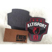 Fashionalbe Custom 3D Rubber Logo Patches , Injection Sew On T Shirt Patch Manufactures
