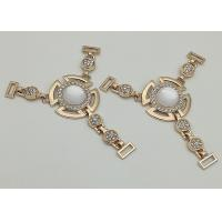 Zinc Alloy Boot Jewelry Chains , T Type Chain Boot Straps With Rhinestone