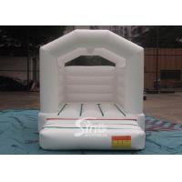 Outdoor commercial used white wedding bouncy Castles for wedding parties Manufactures