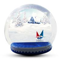 Human Size Snowball Snow Globe / Giant Inflatable Christmas Globe For Festival Manufactures