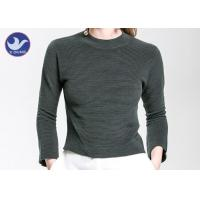 Charm Crop Top Womens Knit Pullover Sweater Lady  Three Quarter Sleeves Short Turtle Neck Manufactures