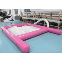 Pink 0.6mm PVC Tarpaulin Inflatable Sea Pool Fire Resistant With Net Manufactures
