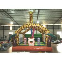 Quality Amusement Park Custom Made Inflatables Giraffe Bounce Combo Enviroment - Friendly for sale