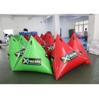 Green Inflatable Marker Buoy / Inflatable Floating Water Park 3 Years Warranty Manufactures