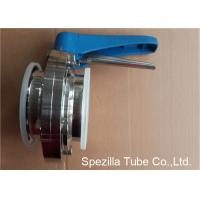 A270 Sanitary Valves And Fittings Stainless Steel Plastic Handle Tri Clamp Butterfly Valve Manufactures