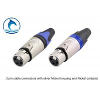 Satin Silver Housing XLR Audio Female Connector / LC3FX Trs Audio Connector Manufactures