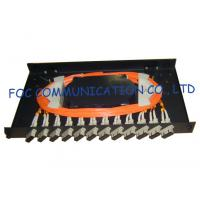 China Fiber Optic Patch Panel 12Port With SC Multimode Duplex Adapters and Pigtails on sale