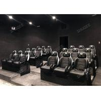 Aesthetic Genuine Leather Mobile 5D Cinema Three Seats In A Set For Amusement Park Manufactures