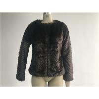 Warm Womens Brown Faux Fur Jacket , Collarless Chubby Short Coat TWS019919 Manufactures
